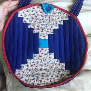 Vintage Quilted Quilt Pillow Bag